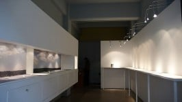 Installation by Silver Seams and Small Blocks