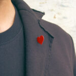 Heart brooch by Marc Monzó