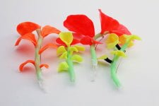 Fluro brooches by Catherine Truman