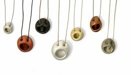 Orifice (math) pendants by Peter Bauhuis