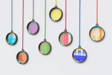 Bi pendants by dark to light to dark